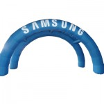 Inflatable double arches