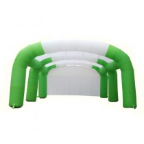 Triple Sunshade Arch Multi-arch Tent Inflatable Rainbow Gate Tent for Wedding