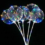 LED Bubble Balloon With Holder