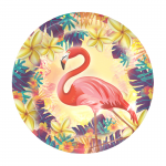 Flamingo party plate