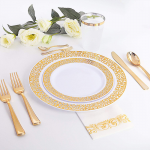 gold & rose gold tableware