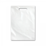 Bag White Plastic Small 15 x 10inch Ea