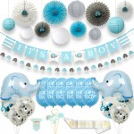 Blue Elephant Baby party Supplies Kit