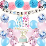 Blue and Pink Balloons Party Supplies Kit