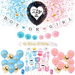 Boy or Girl Banner Party Supplies Decorations Gender Reveal Kit