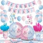 Gender Reveal Party Supplies for Baby Shower Boy or Girl