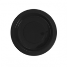 Plate Black Plastic 23cm Pk 50