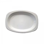 Plate Oval Large White 21x30cm Pk 50