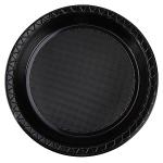 Plate Snack 17cm Black pk 20