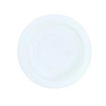 Plate White Plastic 23cm Pk 50