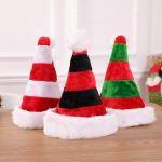 two-tone plush christmas hat