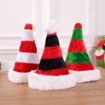 two-tone plush christmas hat