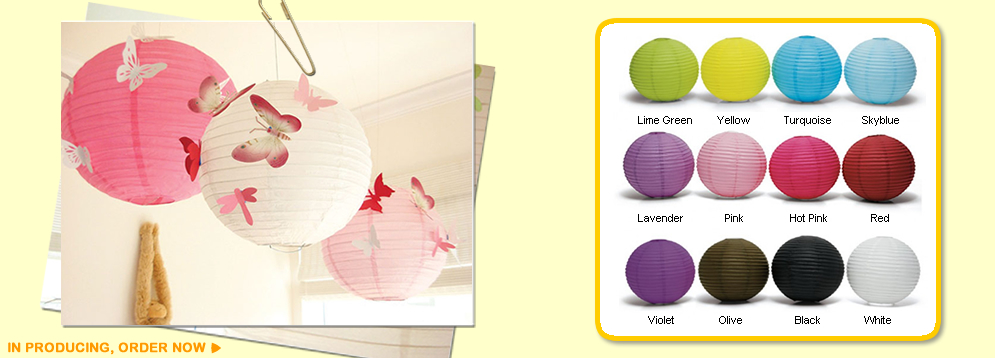 we produce paper lanterns, LED lanterns,  garlands,  and pinatas.