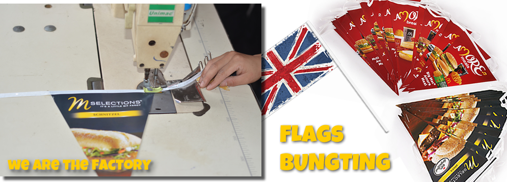 Ad, Promotional bunting/flags